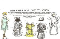 Miss Paper Doll Goes To School paper doll / mostlypaperdolls
