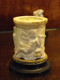 Ivory balm-case with Cupid from Pompeii - Naples Archaeological Museum | Flickr - Photo Sharing!
