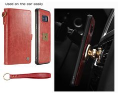 CaseMe Samsung Galaxy S8 Wallet Detachable Wrist Strap Case