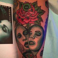 TYPE-O!!! Done on @queenxkrampus  @bornlate_records_and_tattoo #typeo #typeonegative #bloodykisses #ton
