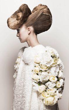 La HCF au mondial de la coiffure. Création de Laetitia Guenaou