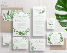 Printable Wedding Invitation Suite / by TheHomeGirlsEtsy on Etsy