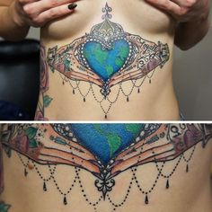 This Irish Claddagh tattoo by tattoo artist Jennifer Yoko Verret is stunningly gorgeous.