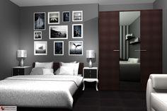 Aranżacja sypialni wystrój klasyczny, nowoczesny w kolorach biały, czarny, szary - projekt wnętrza o id 6638235 w Homplex.pl, Zestaw wyposażenia za 14070 zł ($4396)