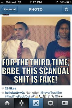 :of you watch scandal you would understand how funny this is