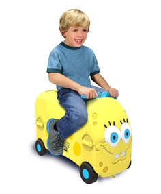 Look at this SpongeBob SquarePants VRÜM Ride-On/Storage Box on #zulily today!