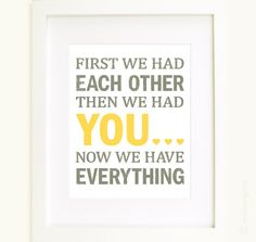 First we had each other Nursery Word Art Print in by enduringarts, $15.00