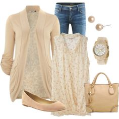 Cream, created by honeybee20 on Polyvore