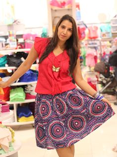 #ethnic #fashion #skirt #print #tribal #ss13 #colors #red
