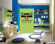 21 Modern,Colorful and Chic Kids Room Design Ideas : 21 Colorful Kids Room Design Ideas – Sophisticated Boys Room Blue Room Paint, Kids Room Paint, Boys Bedroom Colors, Bedroom Green, Bedroom Boys, Bedroom Wall, Trendy Bedroom, Boys Room Design, Kids Bedroom Designs
