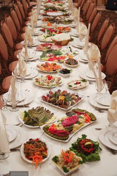 Dinner Banquet Tables Table Setting Family Style Wedding Long