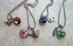 Custom Swarovski Rivoli and Charm Necklaces instructions and craft show ideas