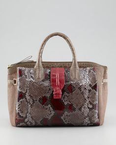 Crocodile, Python & Calf Hair Tote Bag by Nancy Gonzalez at Neiman Marcus.