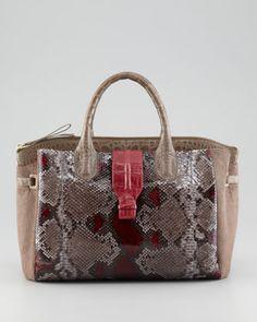 Crocodile, Python & Calf Hair Tote Bag by Nancy Gonzalez at Neiman Marcus.