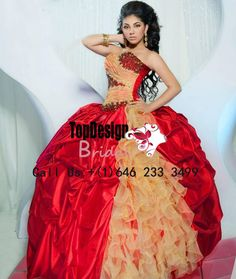 Wholesale 2016 new sweet 15 dress red and champagne quinceanera ball gown with beading and pick up skirt http://www.topdesignbridal.net/wholesale-2016-new-sweet-15-dress-red-and-champagne-quinceanera-ball-gown-with-beading-and-pick-up-skirt_p4523.html