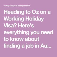 Heading to Oz on a Working Holiday Visa? Here's everything you need to know about finding a job in Australia and organising your money while you're there
