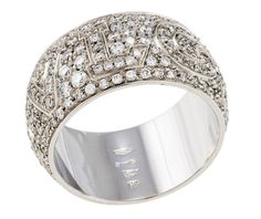 bvlgari pave diamond band in 18k white gold bvlgari band any