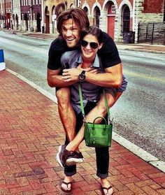 Jared Padalecki and his wife