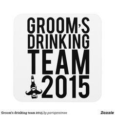 Groom's drinking team 2015 coasters #wedding #drinkingteam #groom #bachelorparty #groomsmen #beer #mustache