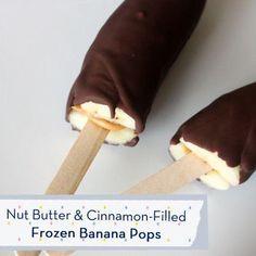 Nut Butter & Cinnamon Frozen Banana Pops