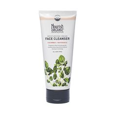 Moisturizing Organic Face Cleanser www.theteelieblog.com This gentle cleanser washes away impurities without drying, irritating, or causing redness. Cucumber hydrates and soothes, while watercress, which is rich in antioxidants, helps protect skin from free radical damage. Fragrance-, alcohol-, and gluten-free. #thrivemarket