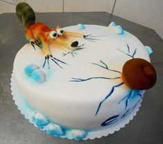 Scrat - ice age squirrel cake I <3 SCRAT!!!!! SOMEBODY MAKE THIS FOR MY BIRTHDAY!!!