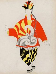 "Pablo Picasso,  Costume Design for the Chinese Magician in ""Parade."" Comoedia Illustre (1917)"