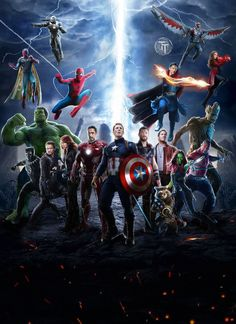 The first trailer for Avengers: Infinity War has just been released, the third installment of the Marvel saga set to come to theaters in Marvel Dc Comics, Films Marvel, Marvel Art, Marvel Memes, Marvel Characters, Marvel Cinematic, Marvel Logo, Thanos Avengers, Avengers Poster