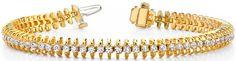 Diamant Armband aus 585er Gelbgold mit 3.00 Karat Diamanten - Dieses Diamant Armband ist für nur 4615.00 Euro bei www.juwelierhausabt.de erhältlich.