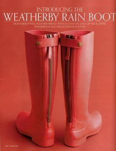 J Crew Weatherby Rain Boots