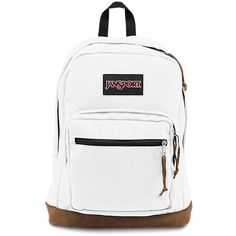 JanSport Right Pack Backpack White ($58) ❤ liked on Polyvore featuring bags, backpacks, jansport backpack, jansport, jansport daypack, rucksack bag and pocket backpack