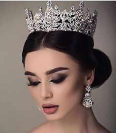Perfect wedding makeup - Amazing wedding makeup - Wedding tiara hairstyles - Wedding crown - We - Perfect wedding makeup, Amazing wedding makeup, Wedding tiara hairstyles, Wedding crown, Wedding ti - Wedding Makeup Tips, Natural Wedding Makeup, Wedding Makeup Looks, Wedding Ideas, Bride Makeup, Wedding Table, Rustic Wedding, Bridal Crown, Bridal Tiara