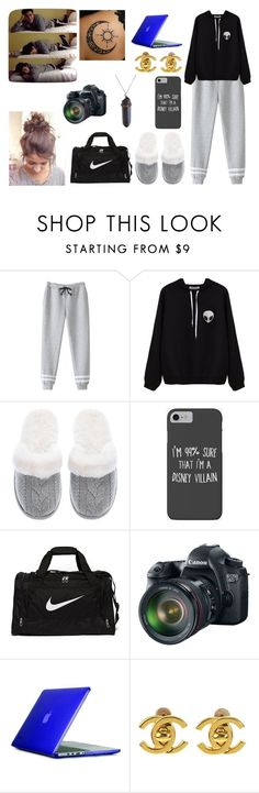 """""""Being happy never goes out of style."""" by jblover-1fan on Polyvore featuring Victoria's Secret, Disney, NIKE, Eos, Speck and Chanel"""