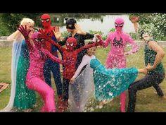 Spiderman và Công Chúa Elsa Nhí Joker Catwoman và Người Nhện Trò Đùa Bón...