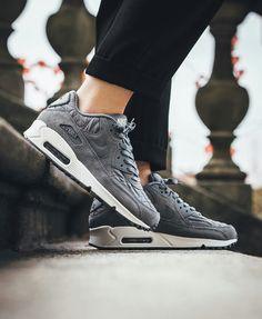 Nike Womens Air Max 90 Premium Cool Grey/Cool Grey Ivory