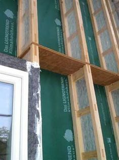 Although LignoTrench wall trusses are designed to be load-bearing, they can also be attached onto existing wall sheathing in a retrofit job, just like Larsen trusses. Timber Architecture, Architecture Details, Building A New Home, Green Building, Building Systems, Building Design, Passive Design, Radiant Floor, Passive House