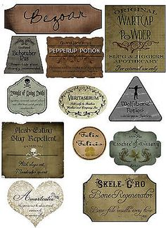 Harry potter #halloween 12 potion assorted #label stickers scrapbooking #crafts, View more on the LINK: http://www.zeppy.io/product/gb/2/140816909646/