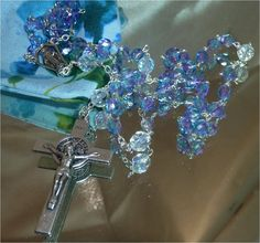Dewdrops  Crystal Rosary by TheCatholicRosary on Etsy