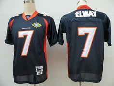 Men's NFL Nike Denver Broncos #7 John Elway Blue Elite Jerseys