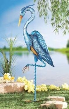 Blue Heron Crane Metal Planter Outdoor Yard Decor Garden Statue Flower Pot Lawn         img{width: 100%;}button.accordion{background-color: #058CD3; border: medium none; https://trickmyyard.com/product/blue-heron-crane-metal-planter-outdoor-yard-decor-garden-statue-flower-pot-lawn/