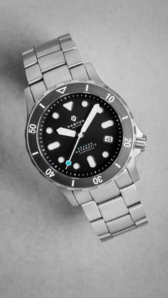 Our full dive range built from titanium and ceramic and featuring a Seiko automatic movement or an updated model with optional Swiss movement. Affordable Automatic Watches, Best Affordable Watches, Automatic Watches For Men, Cheap Watches For Men, Cool Watches, Black Watches, Wrist Watches, Men's Watches, Best Sports Watch
