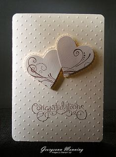 little heart embossing die and heart punch.