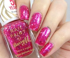 Brit Nails: Barry M Limited Edition Birthday Nail Paint For Superdrug Barry M Nail Polish, Barry M Nails, Hair And Nails, My Nails, Birthday Nails, 50th Birthday, Birthday List, Funky Nail Art, Brit