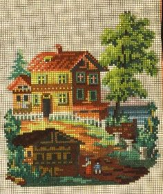 A Pretty Berlin WoolWork Scene Pattern