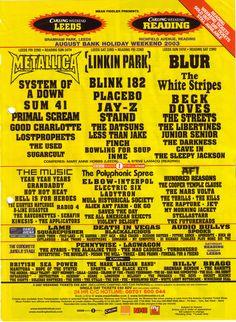 Reading Festival 2003 | Reading Festival 2015