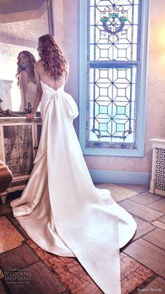 sareh nouri spring 2018 bridal strapless sweetheart neckline heavily embellished bodice satin skirt elegant romantic mermaid wedding dress open v back chapel train (paulina) bv -- Sareh Nouri Spring 2018 Wedding Dresses