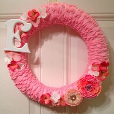 Yarn baby wreath