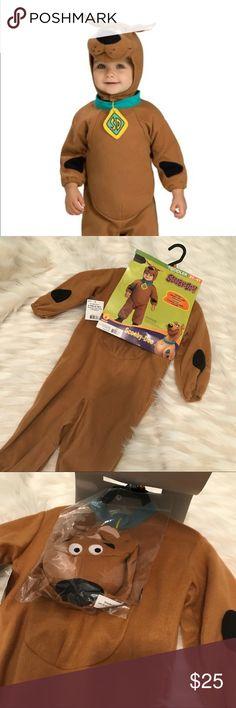 Scooby-Doo 3T-4T costume romper Scooby Doo 3T-4T Romper with collar Headpiece Rubies Halloween Costume Dress Up.   Ask me questions. Costumes Halloween