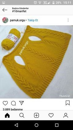 Discover thousands of images about Dndm Crochet Vest Pattern, Baby Knitting Patterns, Knitting Stitches, Knitting Designs, Hand Knitting, Crochet Patterns, Knitting Socks, Crochet Kids Hats, Crochet Baby Booties