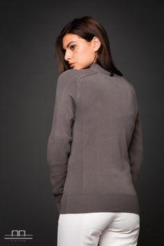 Alessandro Albanese Platinum Polo Neck Pullover Damen